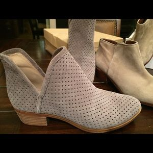 Lucky Brand shoe booties boots Camuto BCBG suede